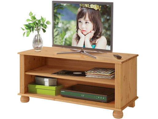 TV-Lowboard MACON aus Kiefer massiv in gebeizt geölt