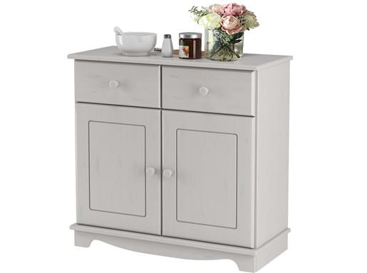 Sideboard CHANNIE mit 2 Türen, 2 Schubladen in weiß