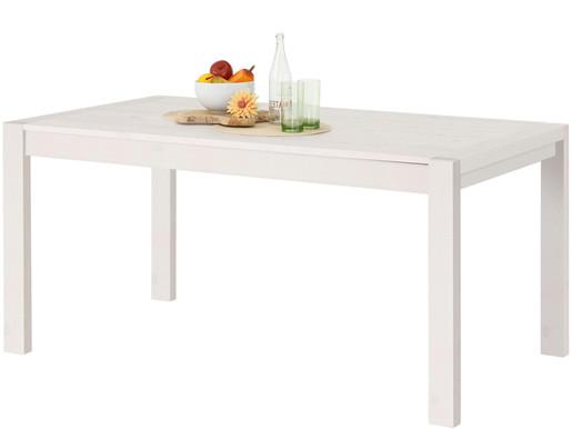 Esstisch ELKA aus Kiefer Massivholz in weiß, Breite 160 cm