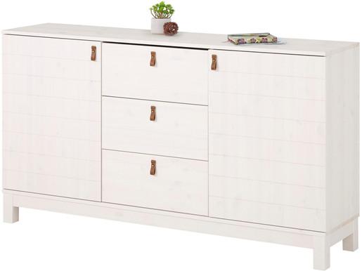 2-trg. Sideboard ELKA aus Kiefer Massivholz in weiß