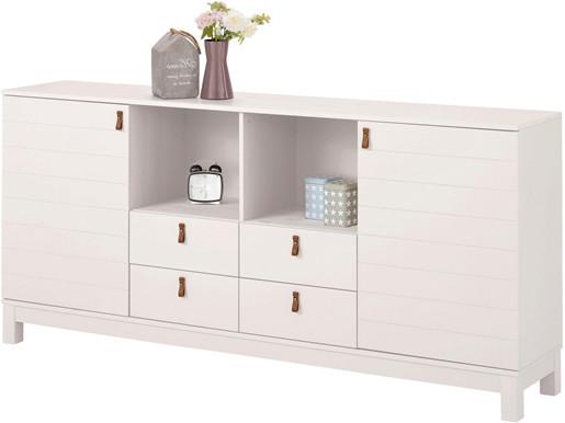 Sideboard ELKA aus Kiefer Massivholz in weiß, Breite 180 cm
