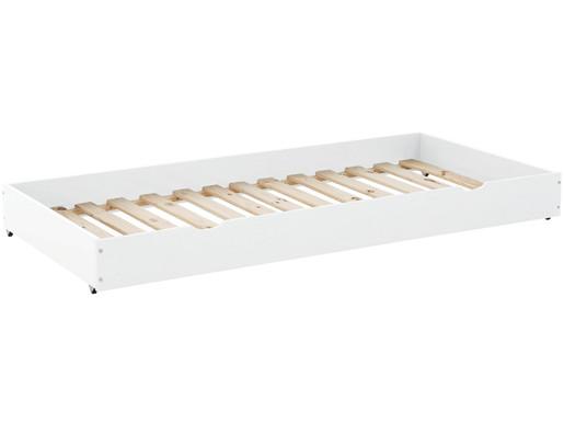 Bettkasten ANTJE aus Kiefer Massivholz in weiß