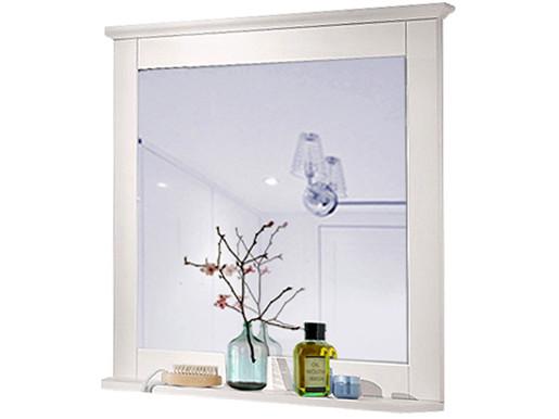 Spiegel ALASKA mit Ablage aus Kiefer massiv in weiß