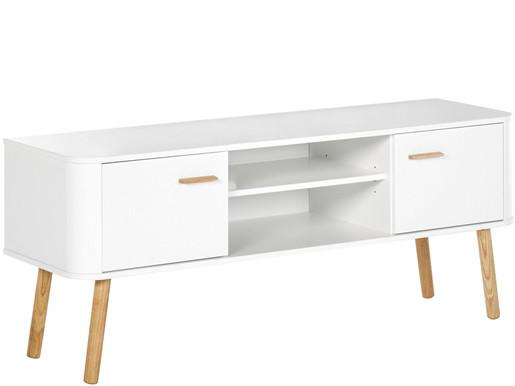 2-trg. TV Lowboard PANDORA in weiß, skandinavisches Design