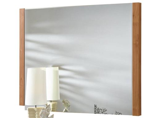Spiegel CHICKY 80 x 60 cm in weiß / Maple