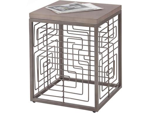 Beistelltisch JOJO aus Beton mit Metallgestell, 45x45 cm