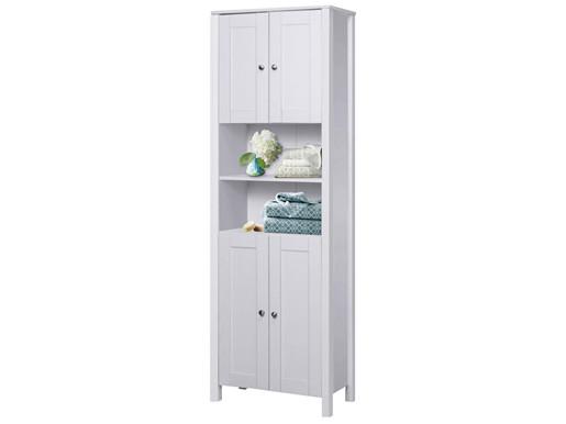 Hochschrank JANE 4 Türen aus Holz in weiß