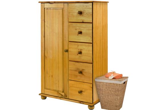 Kleiderschrank ANDERS aus Kiefer massiv, honigfarben