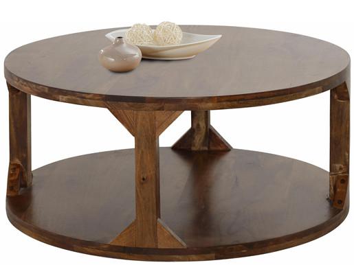 Runder Couchtisch SAHARA aus Massivholz, 60 cm