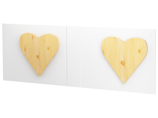 2 Stück Herzen HANNAH aus Kiefer massiv in gebeizt geölt
