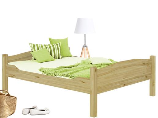 Bett LISA aus Massivholz in gebeizt geölt 160x200 cm