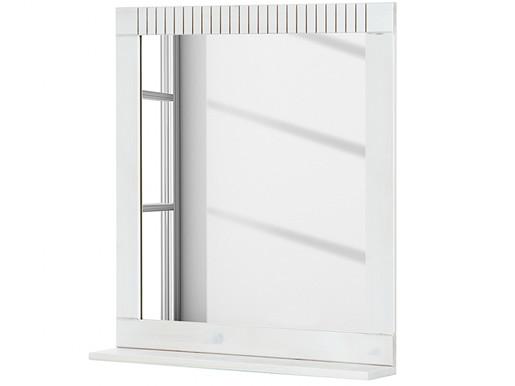 Spiegel CHERYL aus Kiefer massiv in weiß lasiert