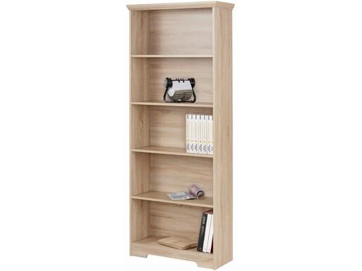 Bücherregal NELE aus MDF in eichefarben, 180 cm hoch