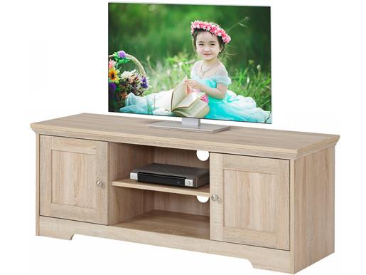 2-trg. TV-Lowboard NELE aus MDF in eichefarben, 118 cm breit