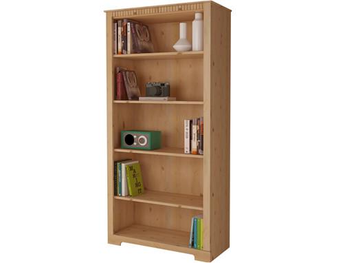 Bücherregal ELIZABETH groß aus Kiefer massiv, 5 Fächer