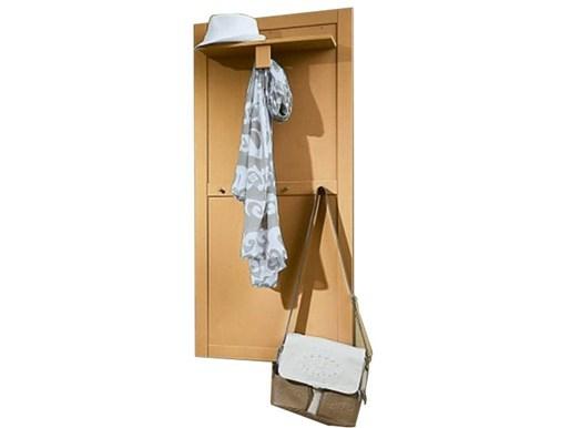 Garderobenpaneel NEPTUNE aus Kiefer massiv in gebeizt geölt