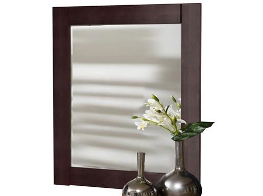 Spiegel NEPTUNE aus Kiefer massiv in havanna lackiert