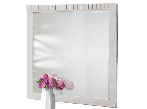 Spiegel SONG 70x70 cm aus Kiefer massiv in weiß
