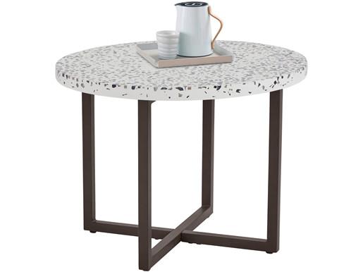 Beistelltisch SADHU mit Terrazzo-Tischplatte, 60 cm