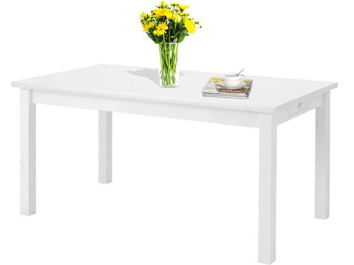 Esstisch IDEE 140cm aus Kiefer massiv in weiß