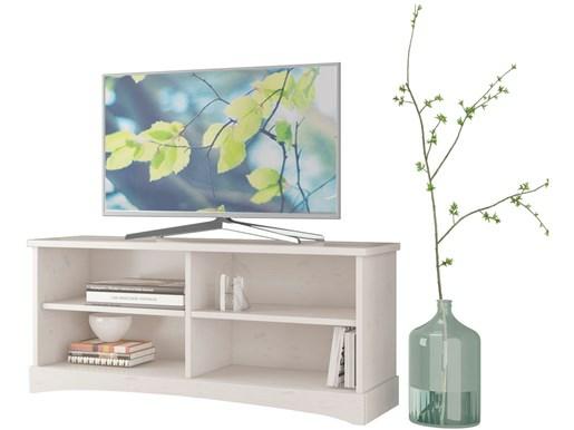 TV Lowboard YORK aus Kiefer massiv in weiß lasiert
