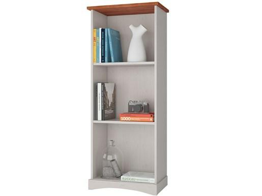 Bücherregal YORK 140 cm aus Kiefer massiv in weiß/honig