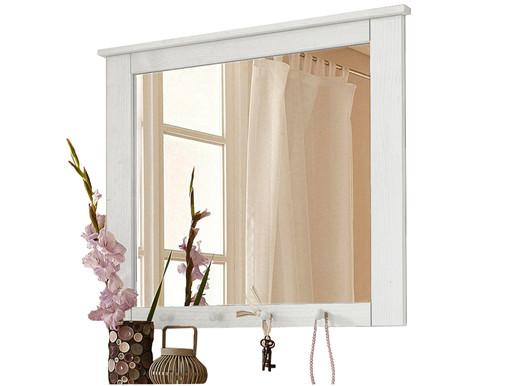Spiegel GRETA aus Kiefer massiv in weiß lackiert