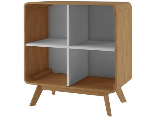 Bücherregal CARMEN mit 4 offenen Fächern in eiche/weiß