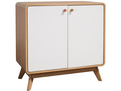 2-trg. Schrank CARMEN in eiche/weiß, Skandinavisches Design