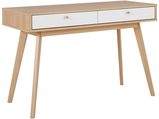 Schreibtisch AVALON im Skandinavischen Design, eiche/weiß