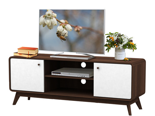tv lowboard carmen aus spanplatte foliert in wei walnuss. Black Bedroom Furniture Sets. Home Design Ideas
