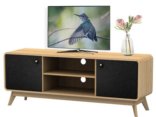 2-trg. TV-Lowboard CARMEN in eichefarben / schwarz