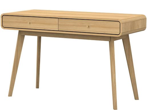 Schreibtisch CARMEN mit 2 Schubladen in eiche/eiche