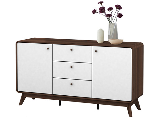 Sideboard Walnuss sideboard aus spanplatte in weiß walnuss loft24 de