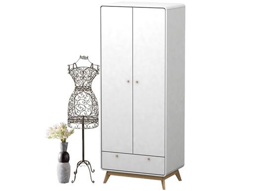 Kleiderschrank CARMEN aus Spanplatte in weiß