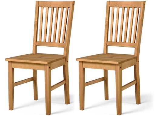 2er-Set Stühle TAVIAN aus Kiefer massiv in gebeizt geölt