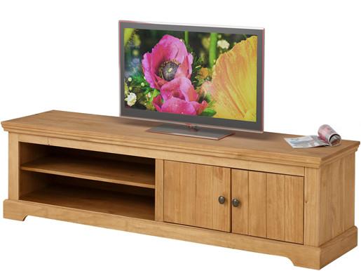2-trg. TV Lowboard ANTON aus Kiefer in gebeizt geölt, 160 cm