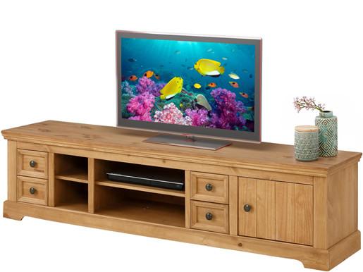 TV Lowboard ANTON aus Kiefer massiv in gebeizt geölt, 180 cm