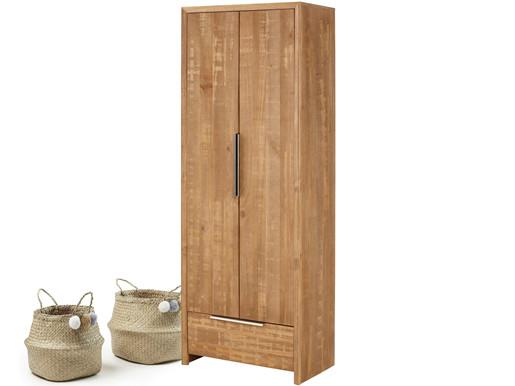 2-trg. Kleiderschrank AUSTIN aus Kiefer in natur gebürstet