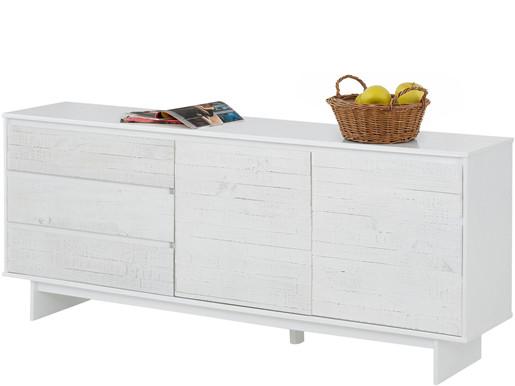 2-trg. Sideboard MILLA aus Kiefer in weiß, Breite 165 cm
