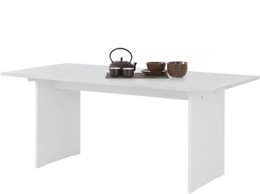 Esstisch MILLA aus Kiefer massiv in weiß, Breite 180 cm