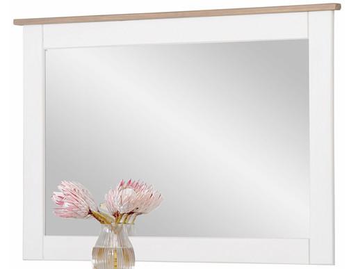 Spiegel COZETTE 90 x 60 cm Kiefernholz weiss grau