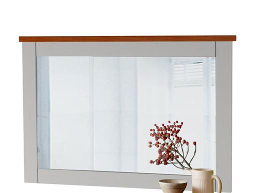 Spiegel COZETTE 90 x 60 cm Kiefernholz weiss honig
