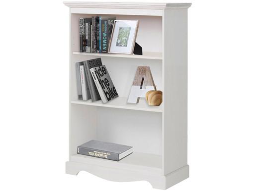 Bücherregal MELIA 120 cm aus Kiefernhoz in  weiß