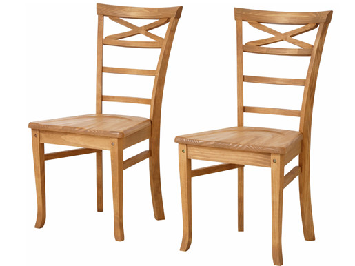 2er Set Stühle VENEDIG aus Masvholz in gebeizt geölt