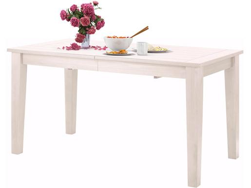 Esstisch ALTONA aus Massivholz in weiß lackiert, 150 cm
