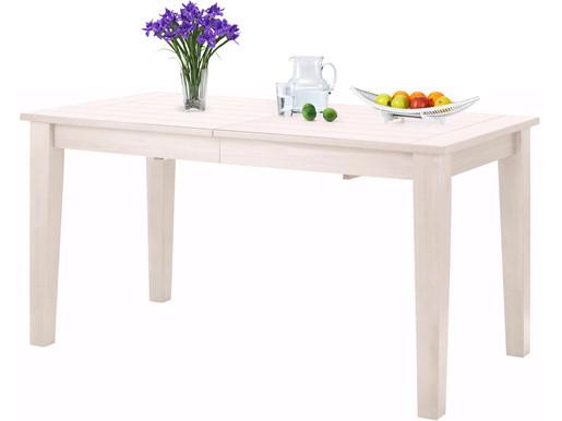 Esstisch ALTONA aus Massivholz in weiß lackiert, 180 cm