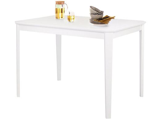 Esstisch TRENDY aus Kiefer teilmassiv in weiß, 110 cm