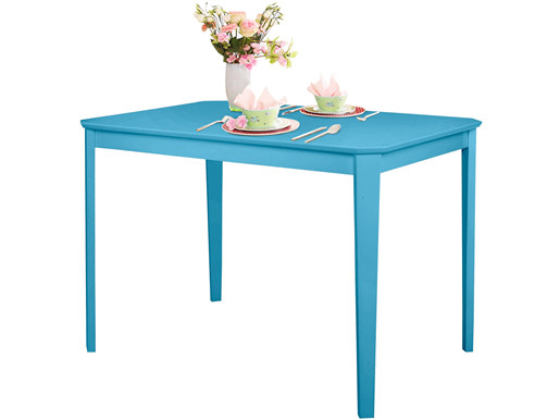Esstisch TRENDY aus Teilmassivholz in blau, 110x75 cm