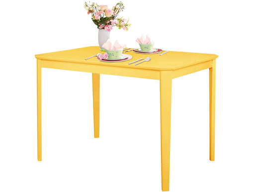 Tisch TRENDY 110 x 75 cm  aus Massivholz in gelb